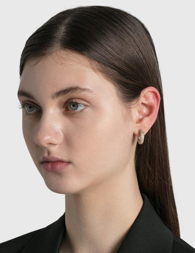Bottega Veneta Peasant Stone / Antique Silver Earrings Picture Jasper Women