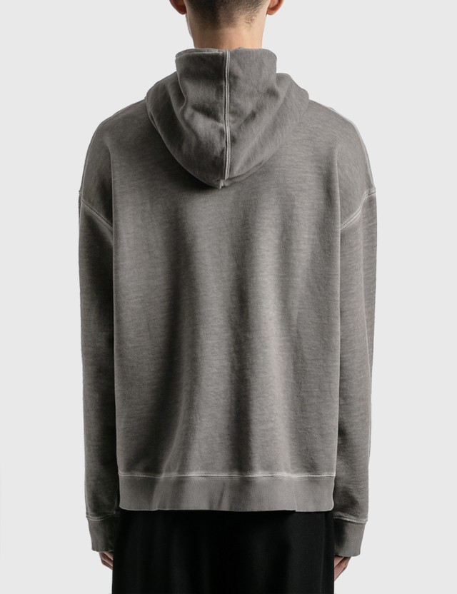 Maison Margiela Garment Dyed 그래픽 후드 Grey Men