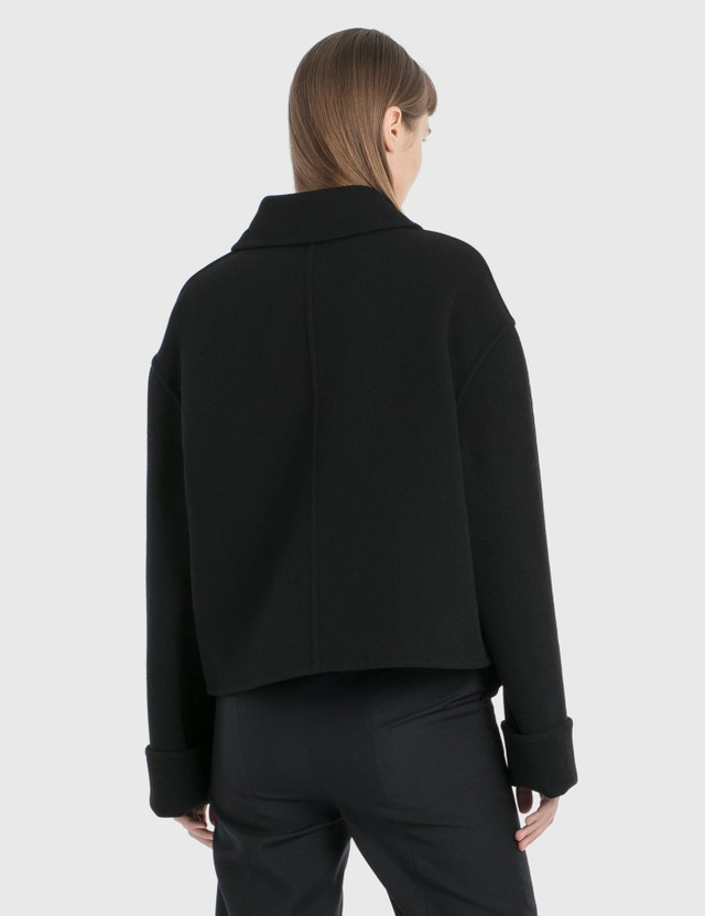 Loewe Cropped Double-breasted Jacket Black Women