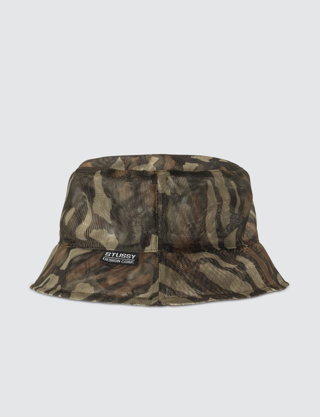 Stussy Tree Bark Mesh Bucket Hat