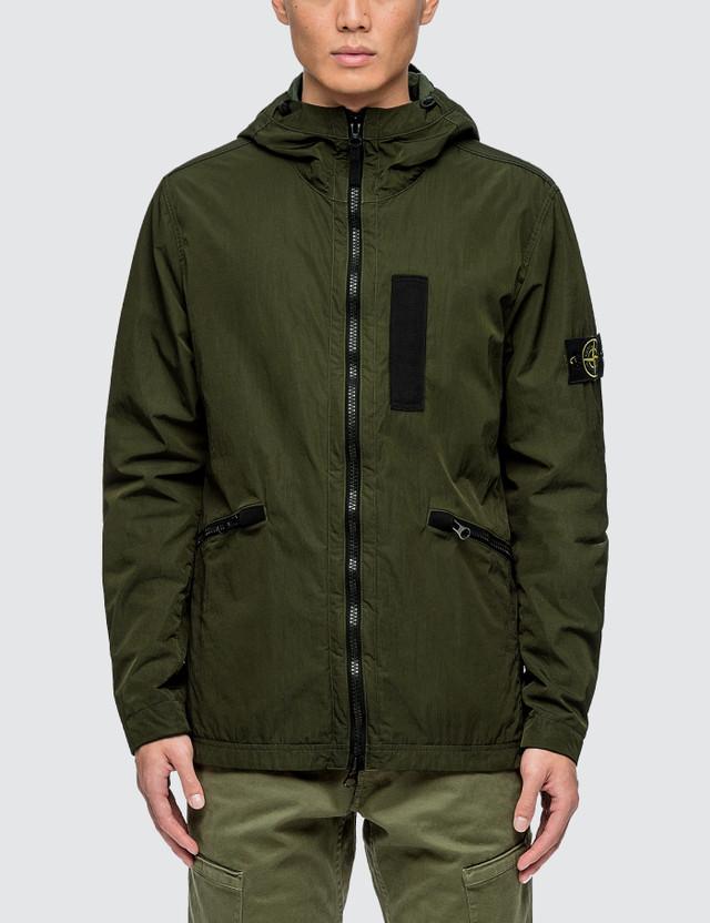 Stone Island Nylon Metal Flock Hooded Jacket