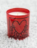 Ligne Blanche Keith Haring's Red Running Heart Candle Red Men