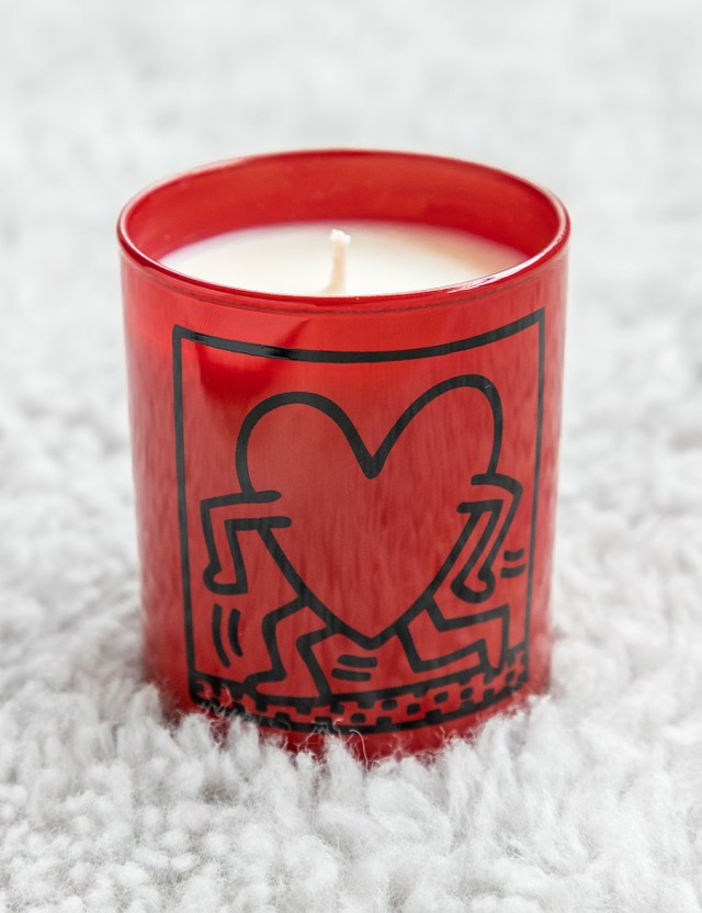 Ligne Blanche Keith Haring's Red Running Heart Candle Red Unisex