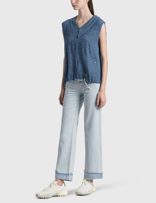 Ader Error Apocal Knit Vest Blue (blue) Women