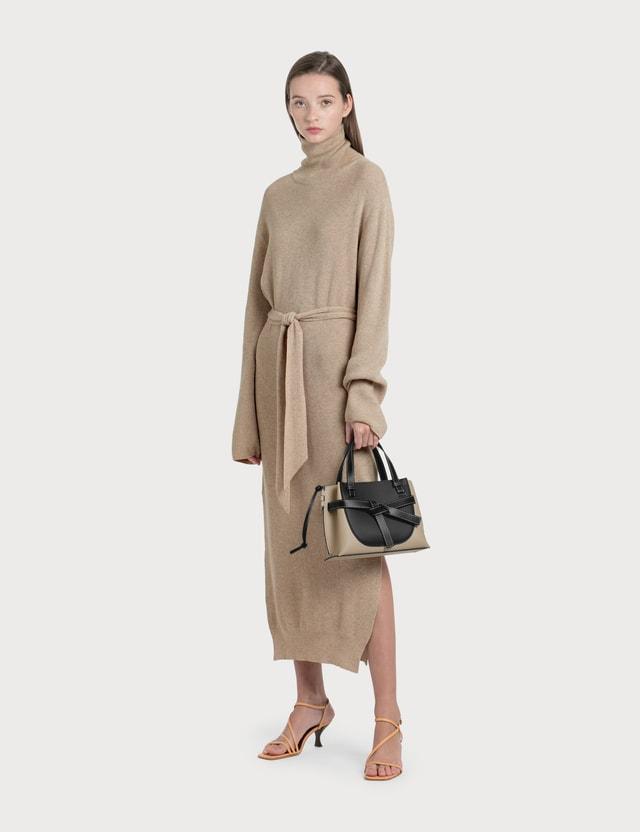 Nanushka Canaan Knit Turtleneck Dress Beige Women