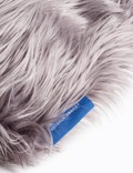 Crosby Studios Gray Furry Hand Pillow Grey Unisex