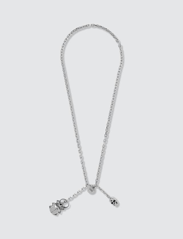 Alexander McQueen Beatle And Skull Necklace 0446+0930 Men