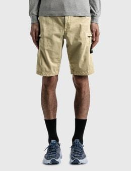 Stone Island Compass Logo Patch Pockets Shorts