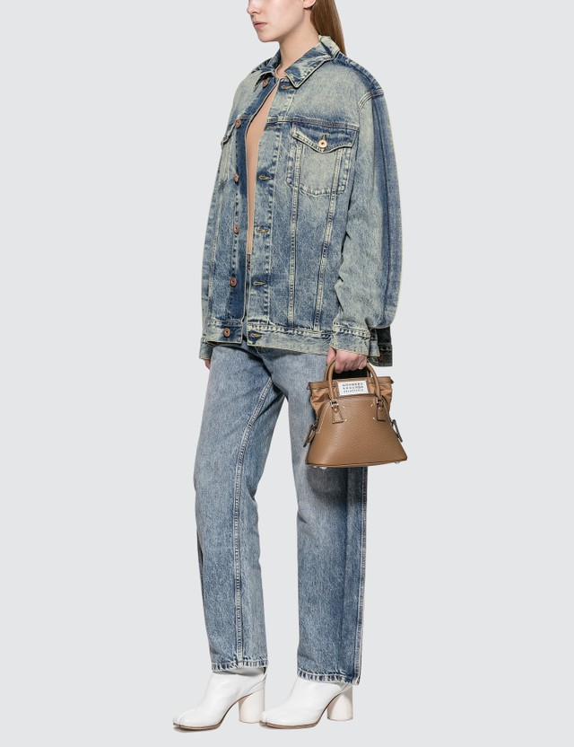 Maison Margiela Blue Denim Jacket With Fold Detail