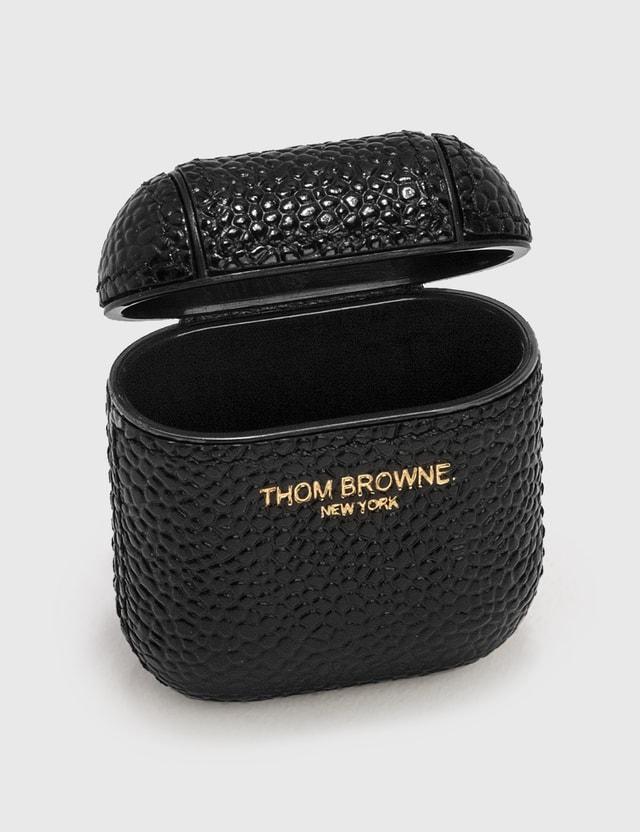 Thom Browne AirPods Case Black Unisex