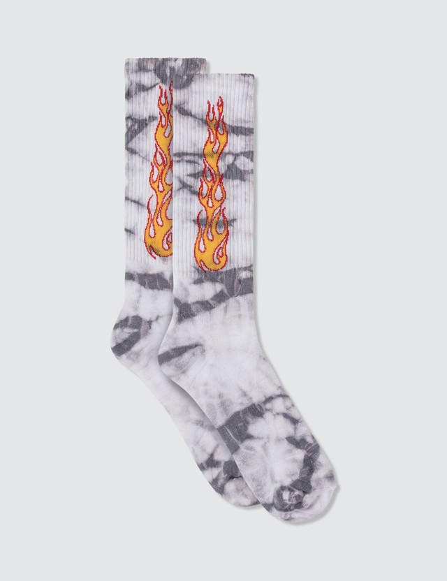 Palm Angels Tie Dye Flames Socks