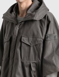 Stone Island Raso Gommato Double Ghost Jacket Black Men