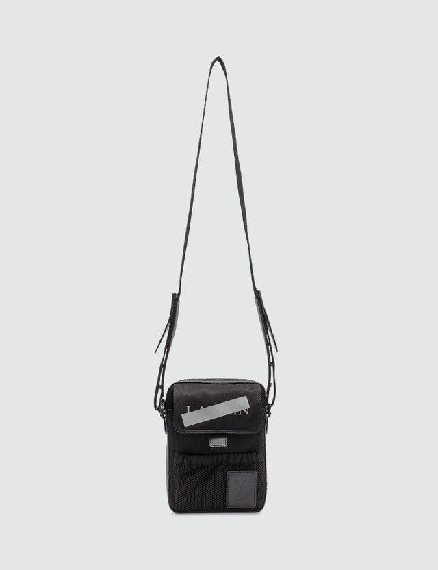 Lanvin Travel Pouch In Satin Nylon with Logos