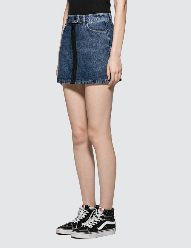Fiorucci Lily Front Button Skirt Denim Women