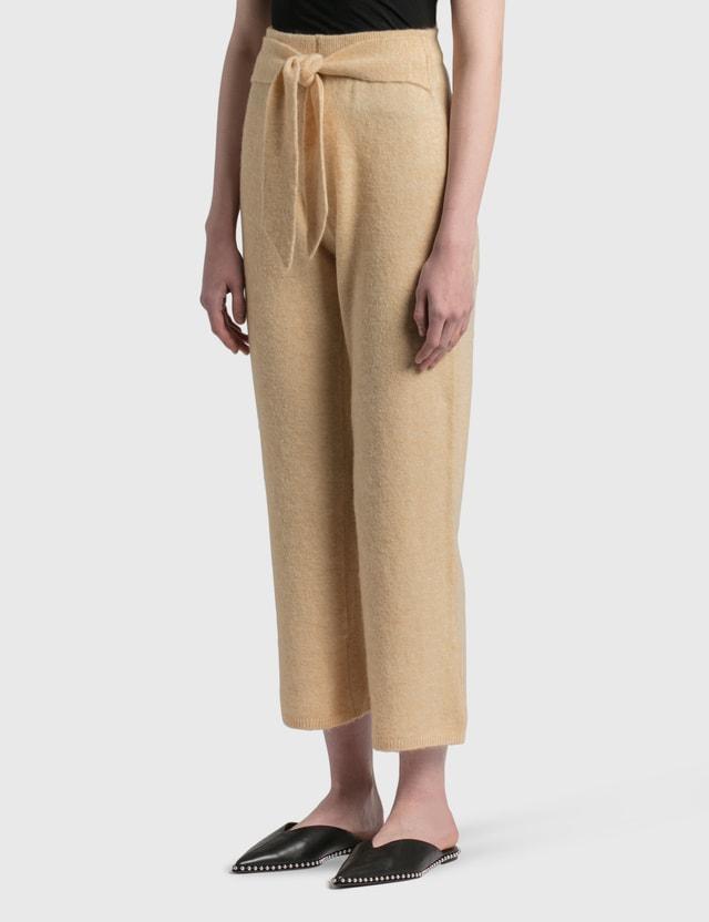 Nanushka Nea Fluffy Knit Pants CrÈme Women