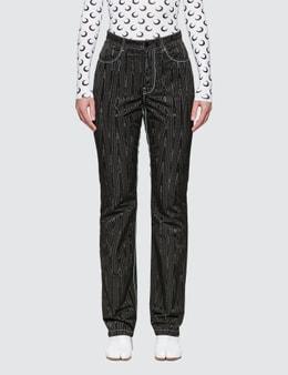 Marine Serre Straight Pants With Back Zipper Detail