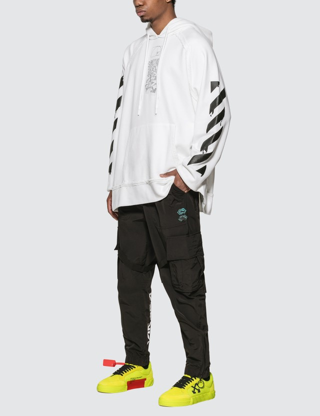 Off-White Nylon Cargo Pants Black White Men