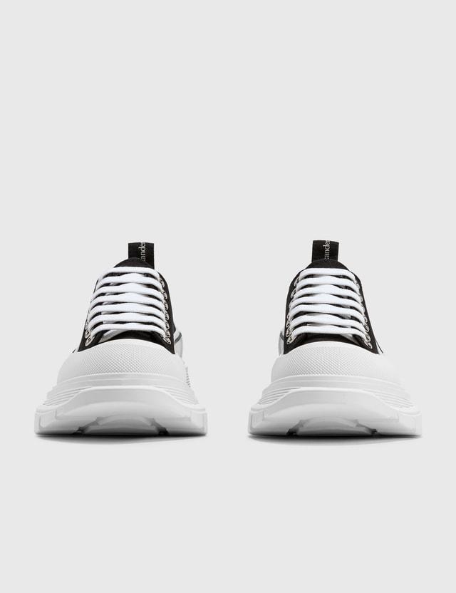 Alexander McQueen Tread Slick Lace Up Sneaker Black Women