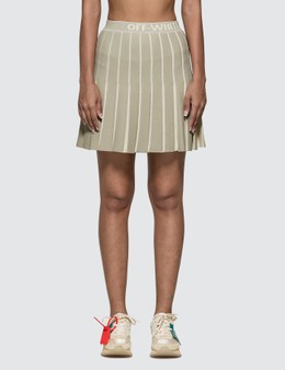 Off-White Knit Swans Mini Skirt