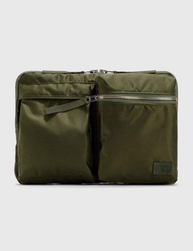 Sacai Sacai x Porter Laptop Pouch Khaki Men