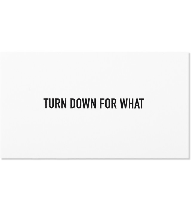 "Terrapin Stationers ""Turn Down For What"" Engraved Calling Cards"