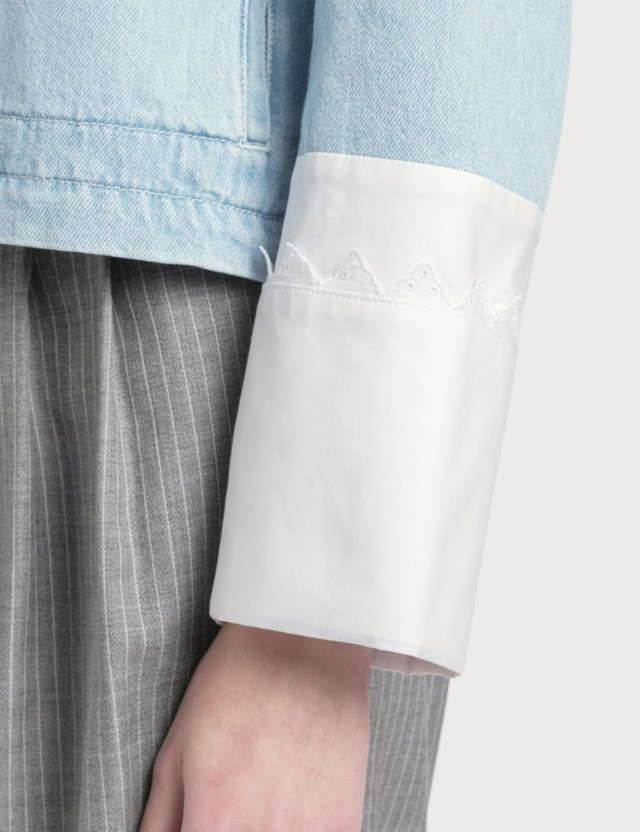 Loewe Denim Jacket Embroidered Cuffs
