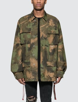 Off-White Paintbrush Field Jacket
