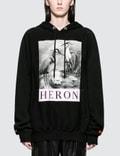 Heron Preston Black and White Herons Hooded Sweatshirt Picture