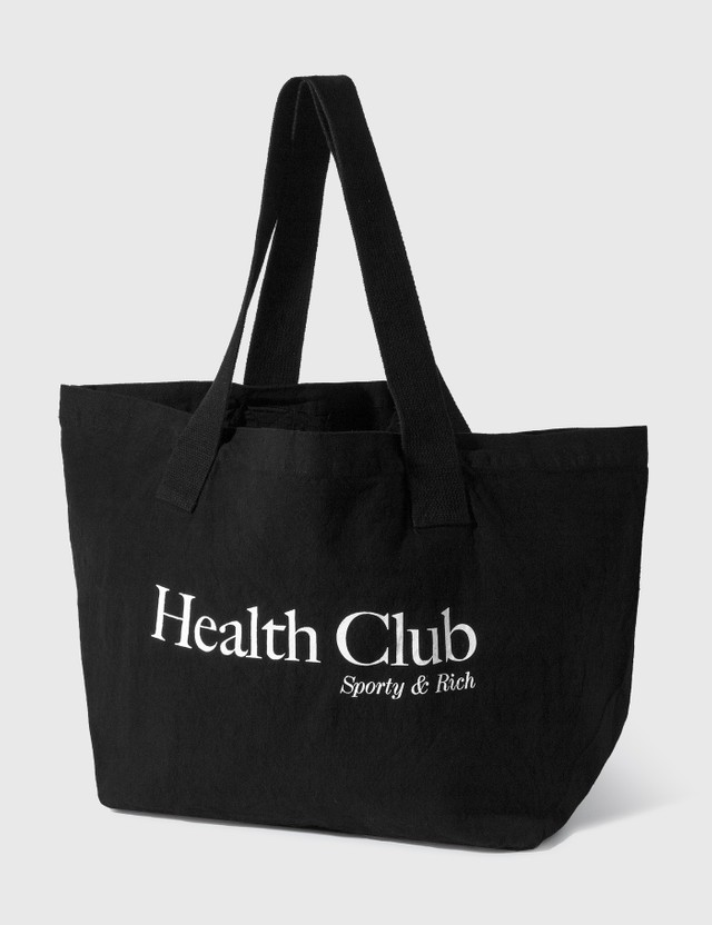 Sporty & Rich Health Club Tote Black/white Women