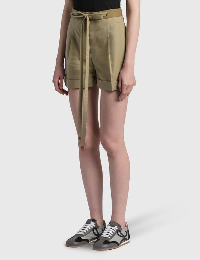 Loewe Belted Shorts Sweet Caramel Women