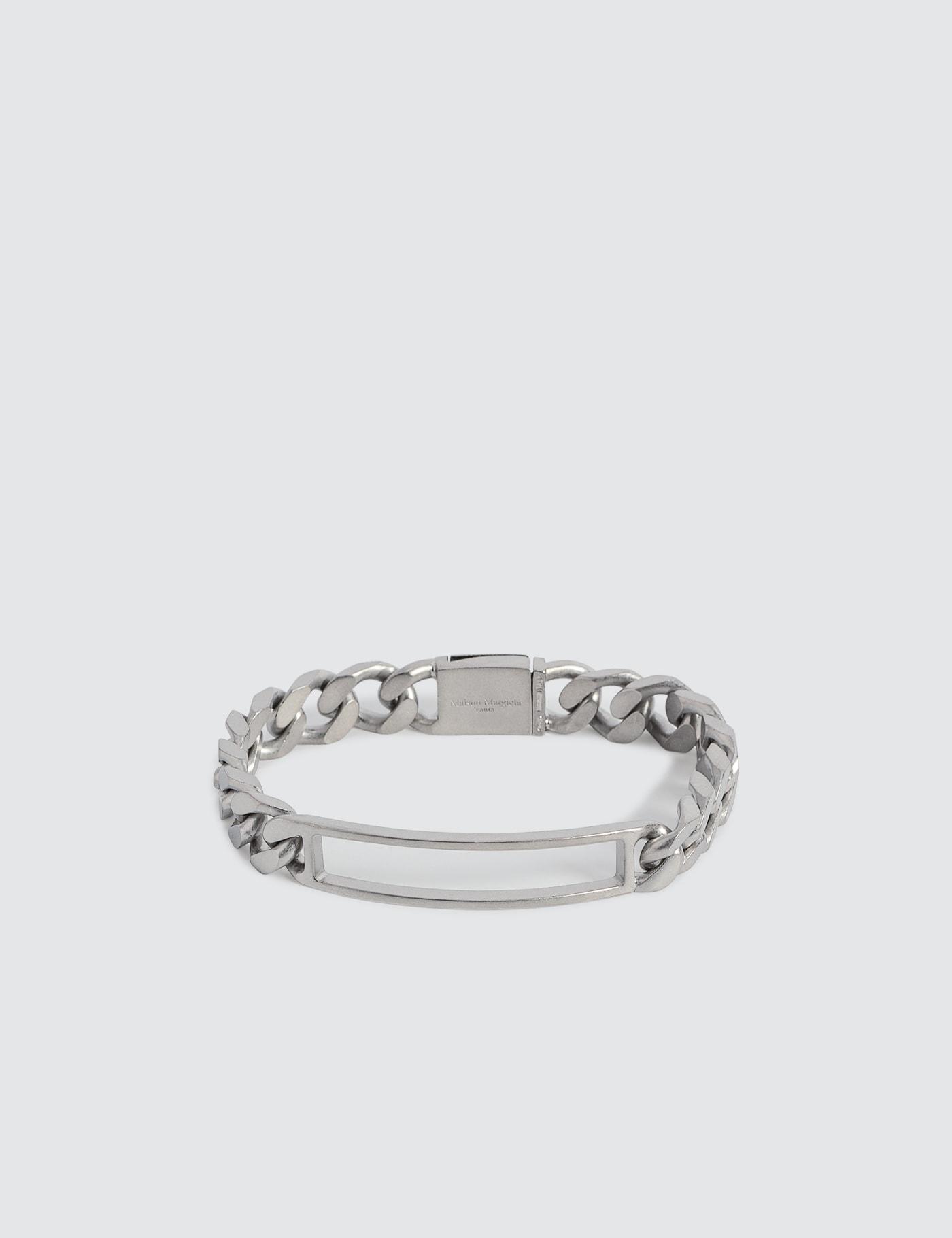 Hollow Rectangle Silver Bracelet