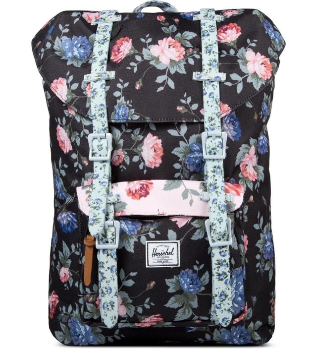 eeb2c8f1cd68 Herschel Supply Co. Black Floral Pink Floral Blue Floral Little America Mid-