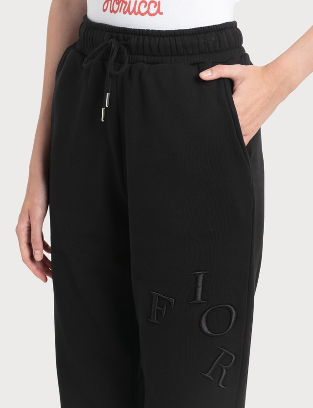Fiorucci Embroidered Logo Angel Jogger Pants Black Women