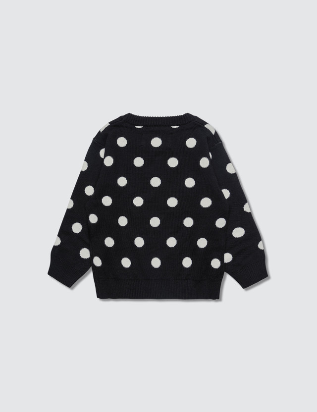 Meme Polka Dots Knit Sweater Polka Dots Kids