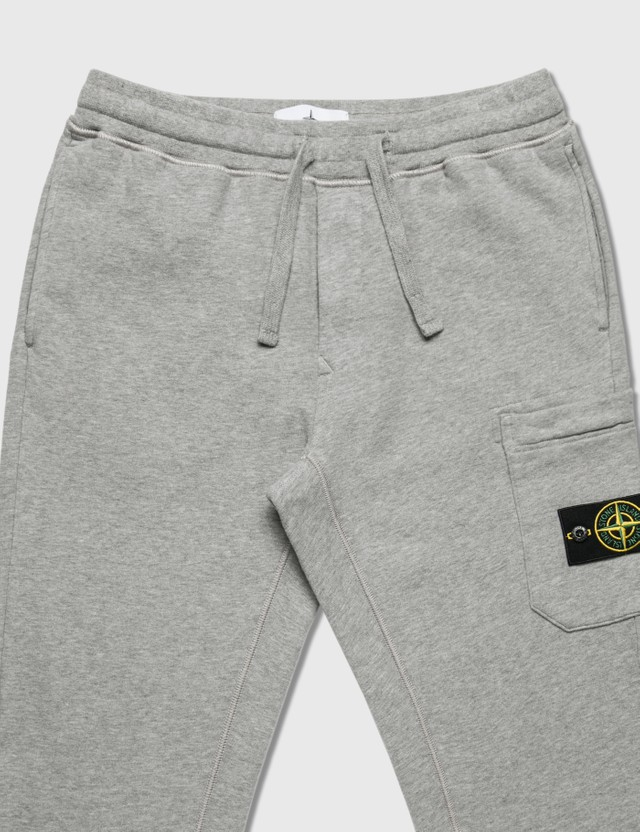 Stone Island Cotton Fleece Cargo Pants Grey Men