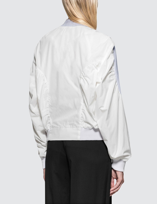 Aalto Bomber Jacket With Pouch White Women