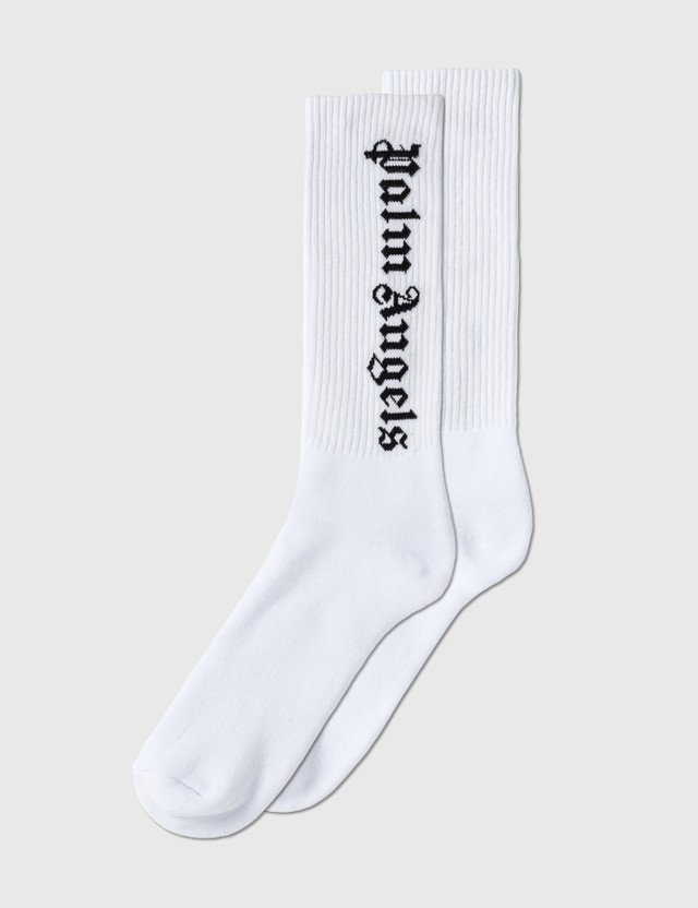 Palm Angels Logo Socks White Men