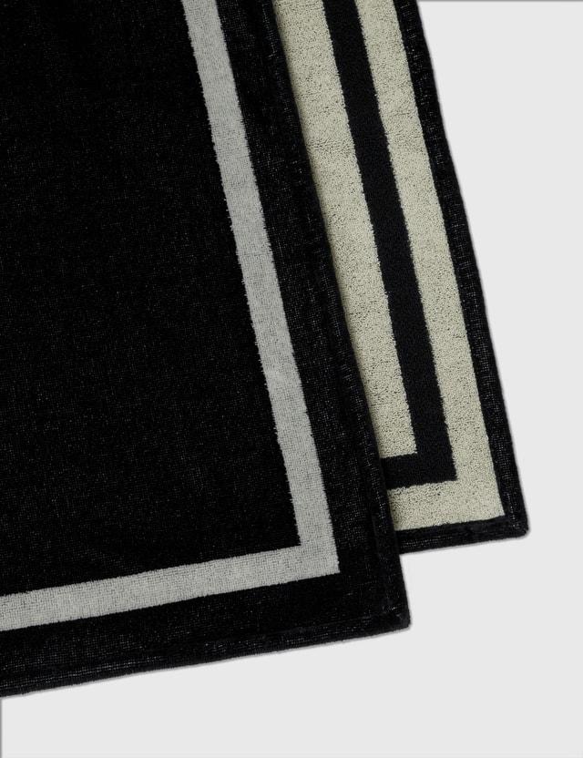 Alexander McQueen McQueen Beach Towel Black Men