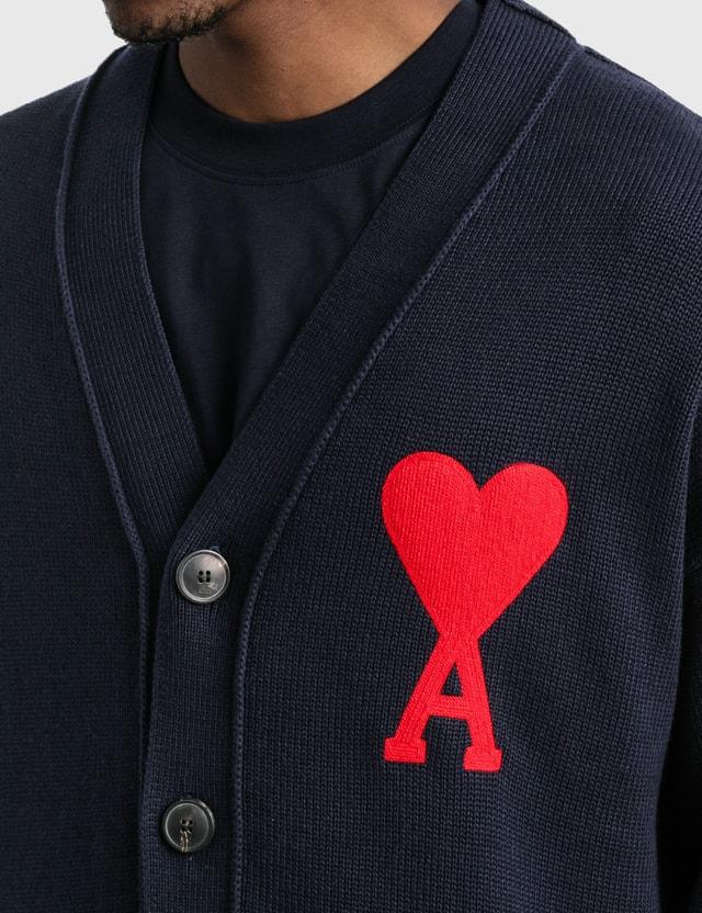 Ami AMI De Coeur Cardigan Navy Men