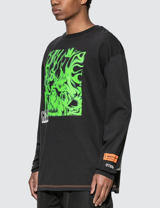 Heron Preston Box Skull Long Sleeve T-shirt