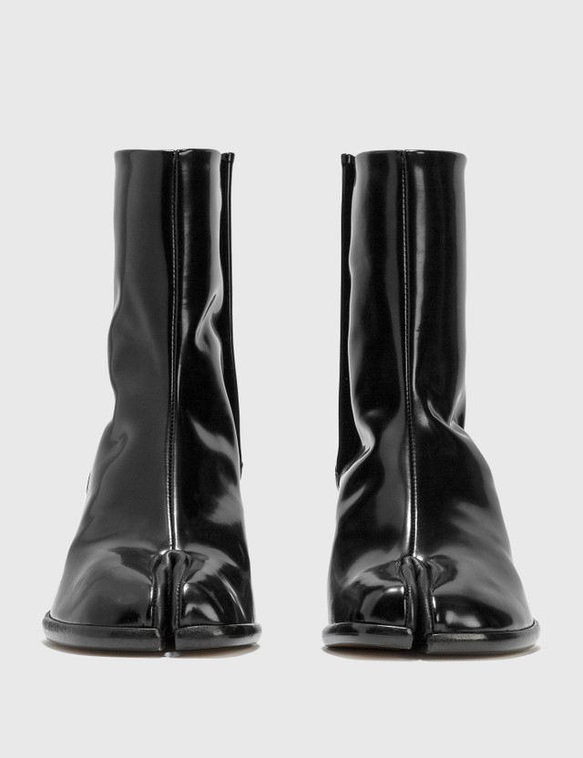 Maison Margiela Tabi Shiny Leather Boots Black Women