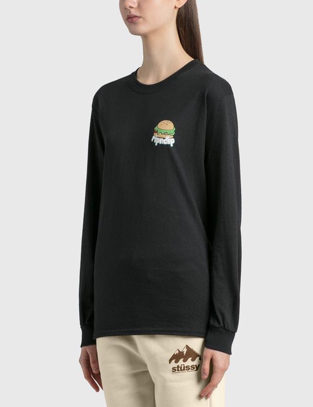 RIPNDIP Fat Hungry Baby Long Sleeve T-Shirt Black Women