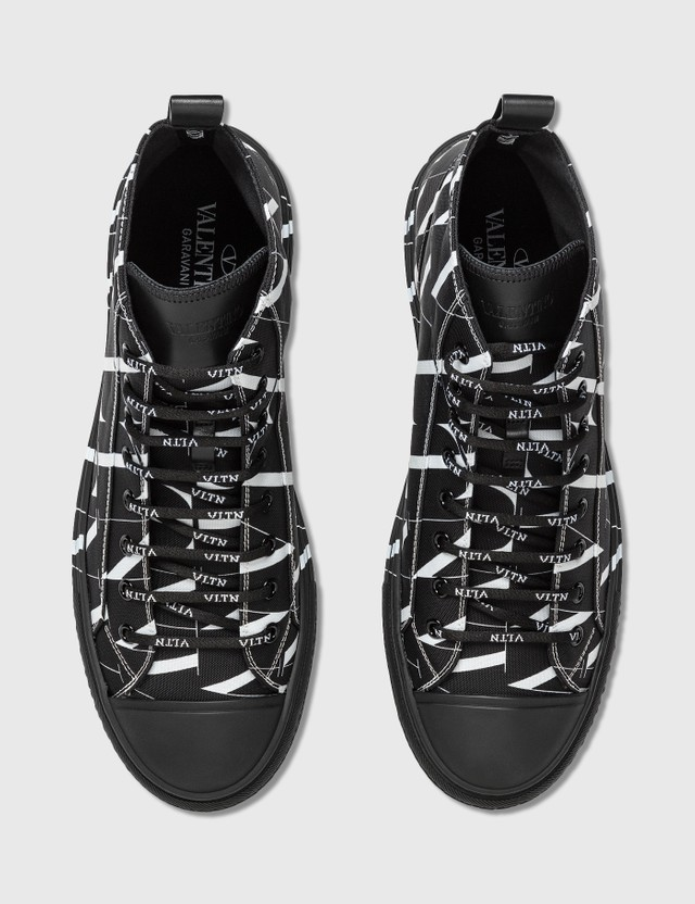Valentino Valentino Garavani VLTN Times Giggies High-top Fabric Sneaker Nero/bianco/nero Men