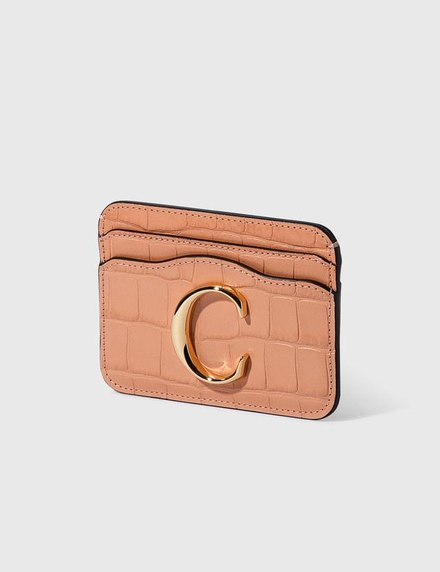 Chloé Chloé C Croco Embossed Card Holder