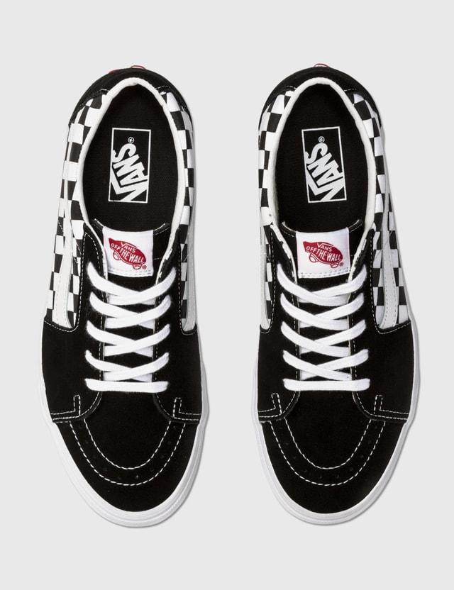 Vans SK8-Low (canvas/suede) Black/checkerboard Men