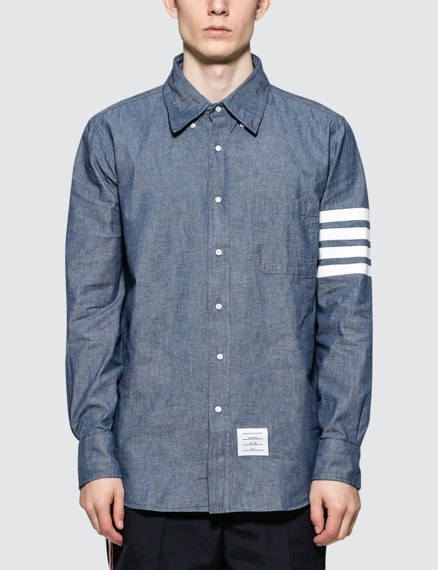 Thom Browne Straight Fit Button Down L/S Shirt