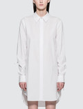 Alexander Wang Washed Cotton Poplin L/S Shirt Dress With Sleeve Ties Picture