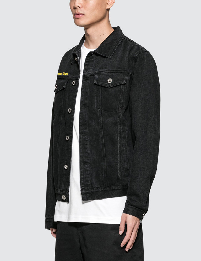 GEO World Peace Denim Nylon Jacket Black Men