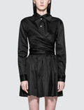 Opening Ceremony Sateen Wrap Front Dress Picture