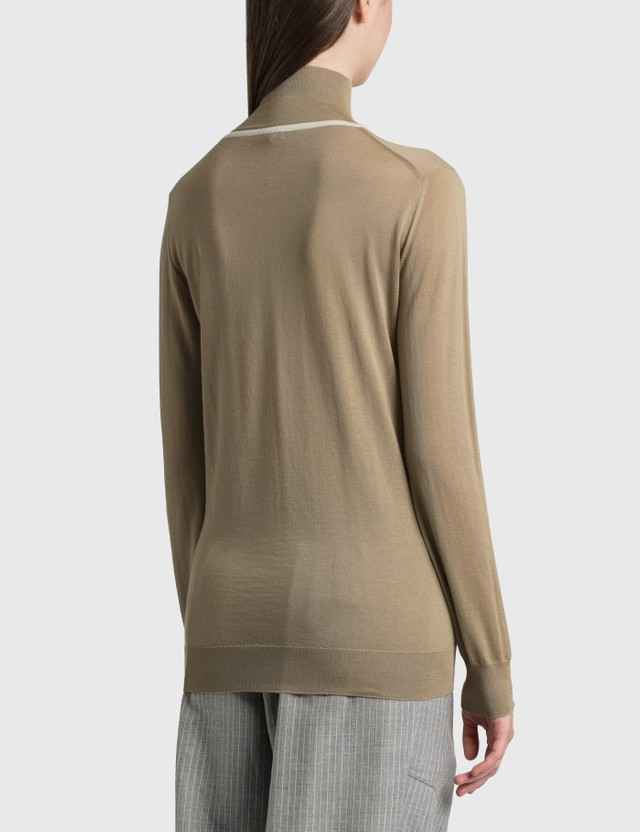 Loewe Anagram Embroidered Cashmere Sweater Camel Women